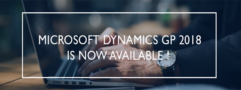 Microsoft Dynamics GP 2019 est disponible